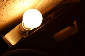 The domestic light fittings in action