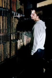 Ray Bullock Jnr. during filming in the Chained Library for Soul Searcher