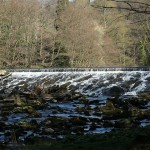 A test shot of the weir