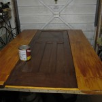 Staining the alcove