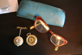 Alice's watch and glasses