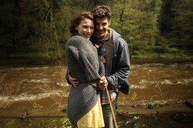 "Georgina Sherrington (""Kate"") and Oliver Park (""Dan"") during the weir scene"