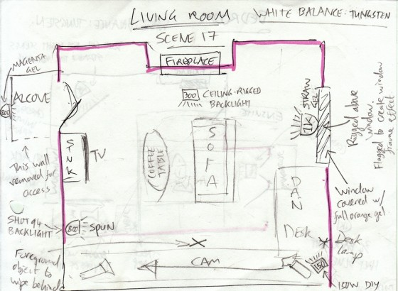 Living room lighting plan (day)