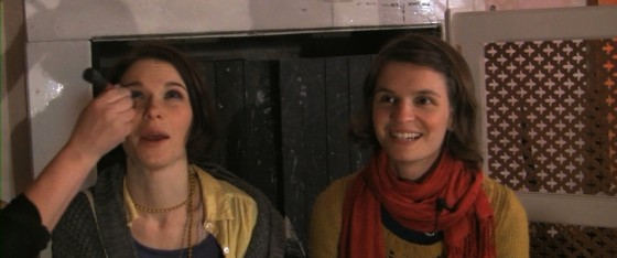 The 24P footage I converted includes a dual interview with Kate (Georgina Sherrington) and Copy-Kate (Katie Lake).