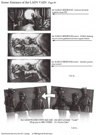 Storyboards for The Dark Side of the Earth by David Ayling