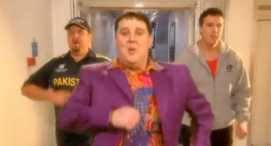 "Peter Kay is green-screened over an element of himself and Patrick McGuinness in the 2005 Comic Relief music video ""(Is This the Way to) Amarillo""."