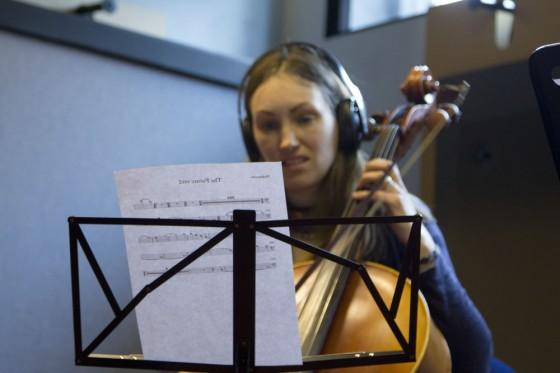 Lorna Davies on cello. Photo: Owain Uylet