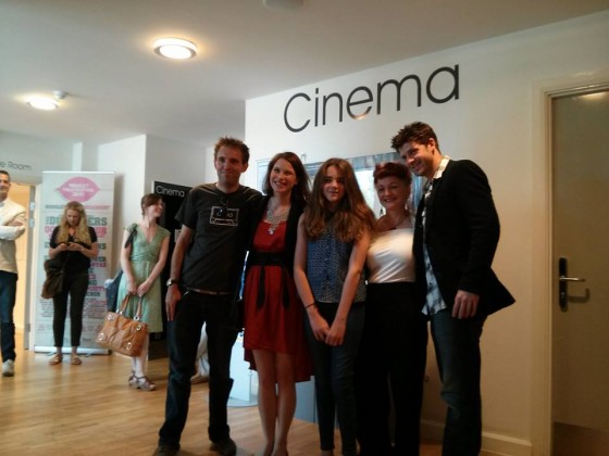 Me, Georgina Sherrington, Amelia Edwards, Therese Collins and Oliver Park at the screening
