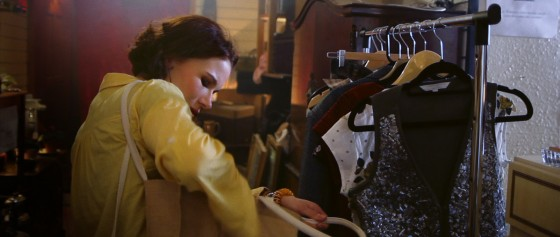 Is Kate (Georgina Sherrington) shoplifting in this deleted shot from Stop/Eject?