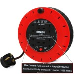 Check the wound and unwound ratings of your extension reels