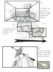 Storyboards by Luis Gayol for The Dark Side of the Earh