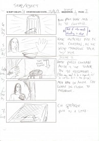 Some of my rough storyboards for Stop/Eject
