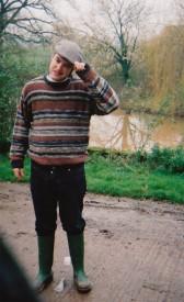 Writer Matt Hodges in his role as Farmer Giles