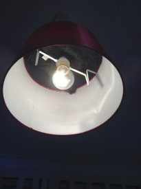 Black-wrapped ceiling light