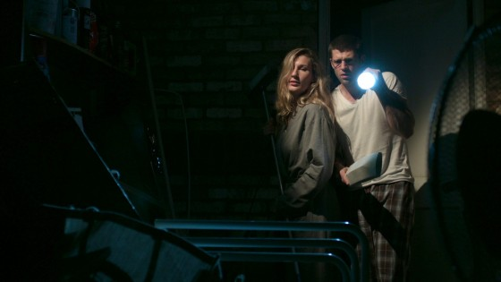 Stella Taylor and Oliver Park, as Charlotte and Mitchell, are keyed here by a Dedo in the rafters. A foreground glow is created by an LED panel. Image courtesy of Jordan Morris