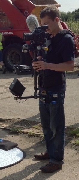 Colin operates the Canon C300 on his Steadicam Pilot