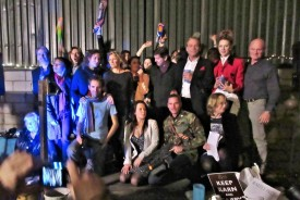 Some of the key cast and crew at the awesome wrap party. Photo by Allison Reid
