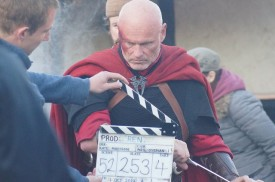 Colin Smith slates a shot of RIchard Zeman as the Kah'nath Commander