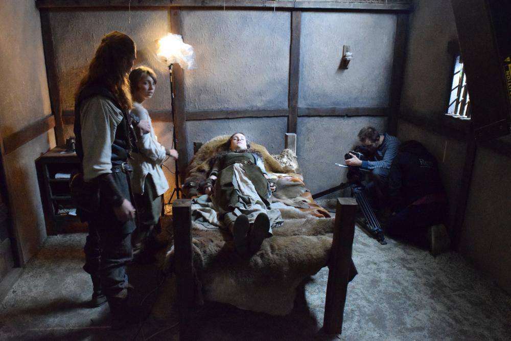 Hudson Death Scene Filming Ren's Death Scene