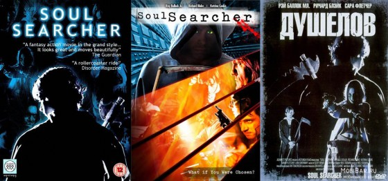 Left to right: the UK, US and Russian covers for Soul Searcher