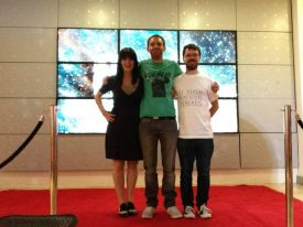 With producer Sophie Black and co-writer Tommy Draper at the Short Cinema Festival
